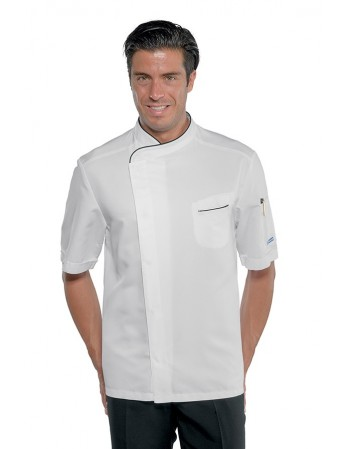 Bianco Manica Lunga 210 gr//m/² 97/% Cotone 3/% Spandex S Isacco Giacca Lady Chef Bianco