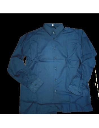 Camicia Uomo Cotone Colore Blu